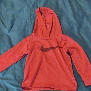 Nike dri fit red athletic hoodie lightweight 24m